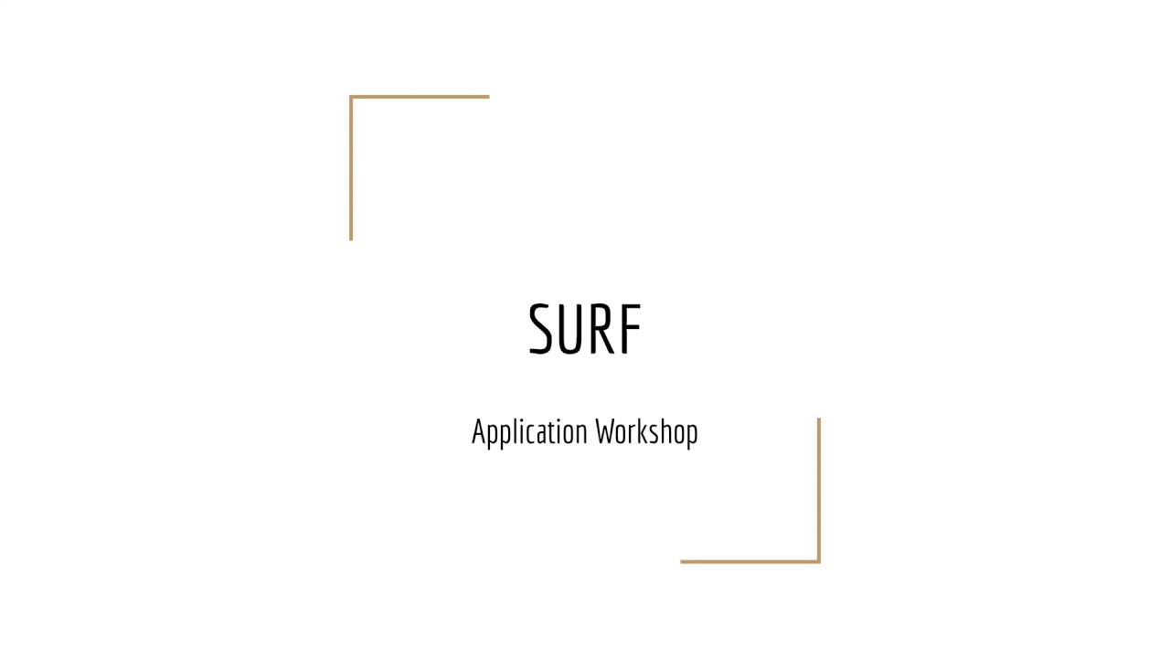 Preview Image for SURF Application Workshop