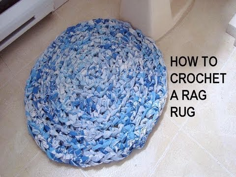 How to CROCHET A RAG RUG, recycle