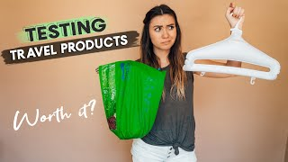 TRAVEL PRODUCT REVIEWS | Portable Laundry Bag & Hangers| DOES IT WORK?