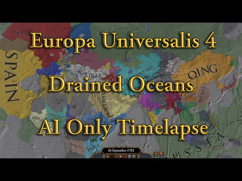 EU4 But I drained all the oceans - AI Only Timelapse |