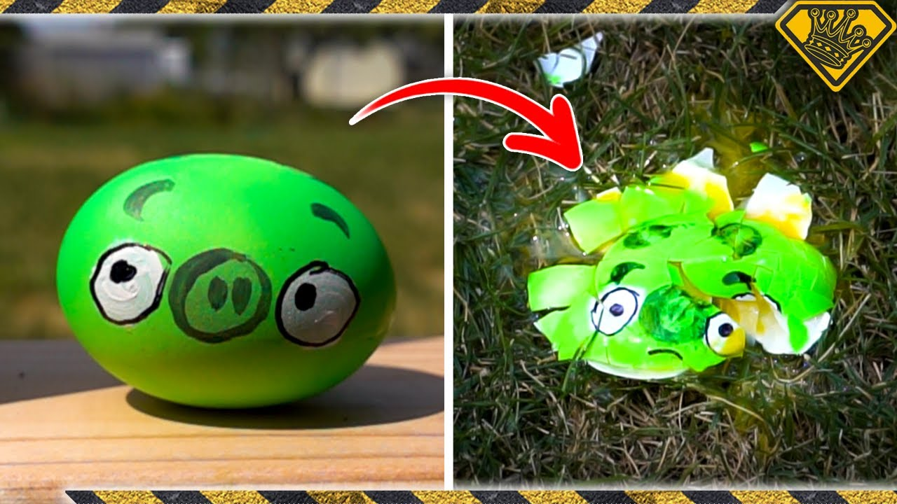 SMASHING Pigs with a Giant Angry Birds Slingshot