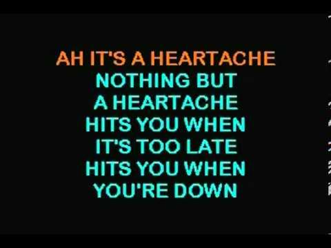 bonnie tyler KARAOKE It's A Heartache