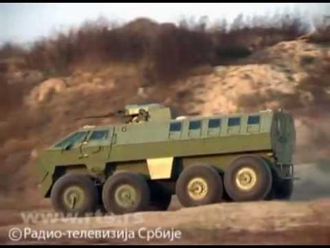 "Predstavljeno borbeno vozilo ""Lazar 2"",  New Serbian Armoured fighting vehicle MRAP"