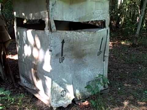 My Cheap Alternative To A 300 1000 Deer Blind Youtube