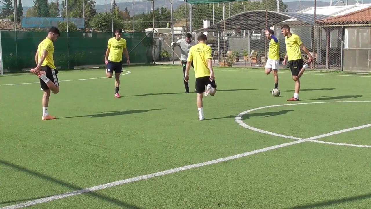 soccer training ideas 22(Complete technical warm up)