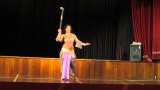 belly dance with a stick