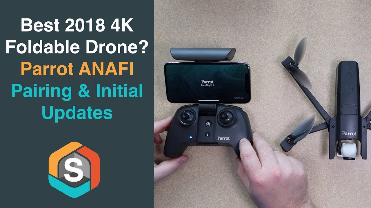 Parrot ANAFI - How to Pair and install the Initial Firmware Updates