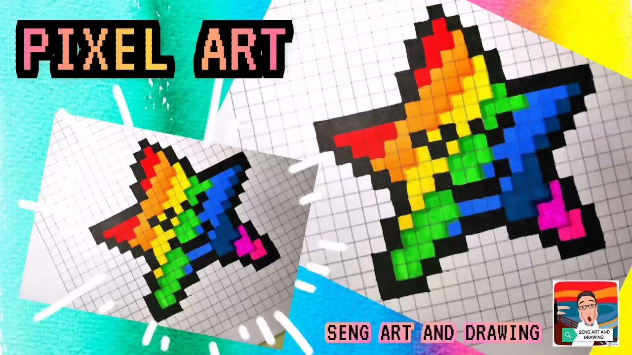PIXEL ART RAINBOW STAR 🌟 彩虹星星像素艺术 🌟 Seni Piksel Bintang 🌟