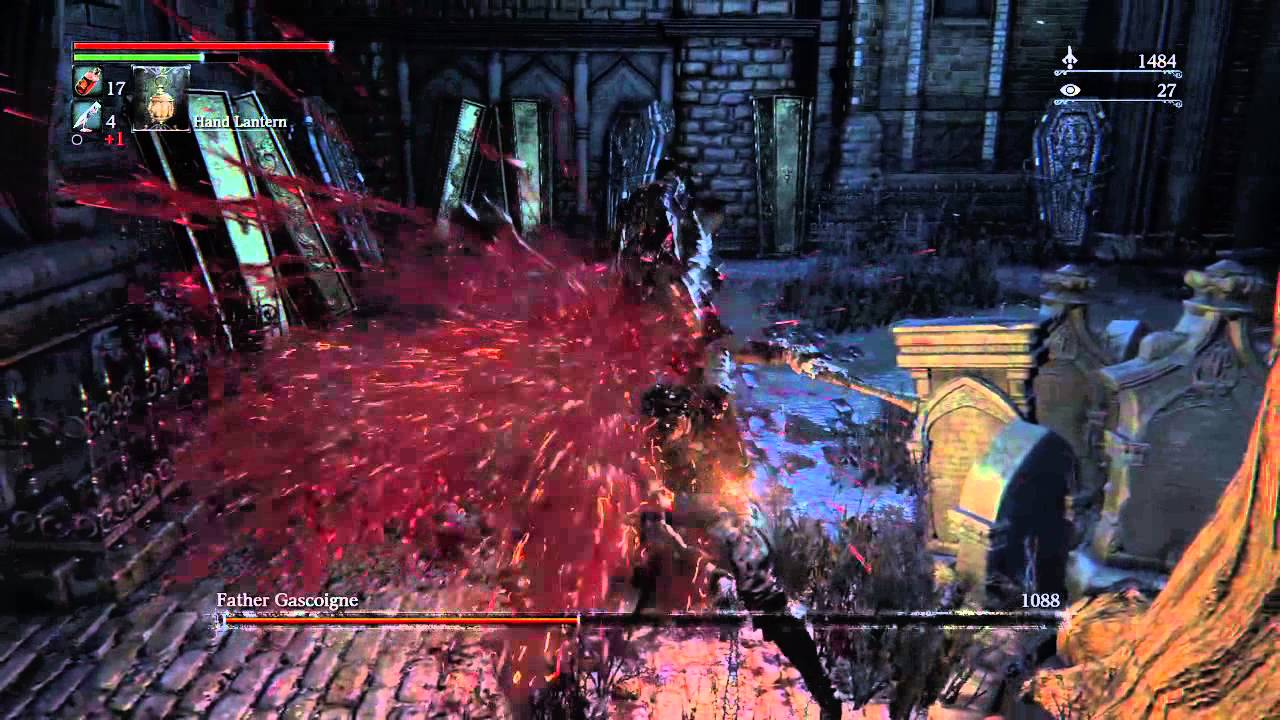 Beating Father Gascoigne on NG+ viscerals in beast form - YouTube