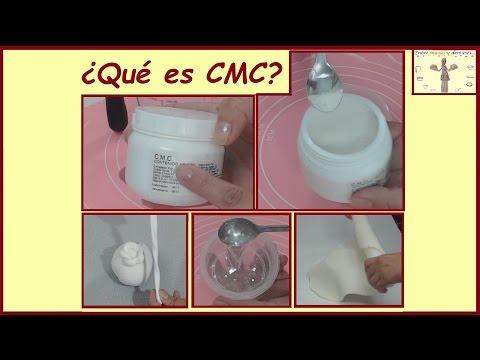 Que es CMC - Para que y como se usa? Tutorial didáctico Fondant  Pegamento comestible  Pasta de goma