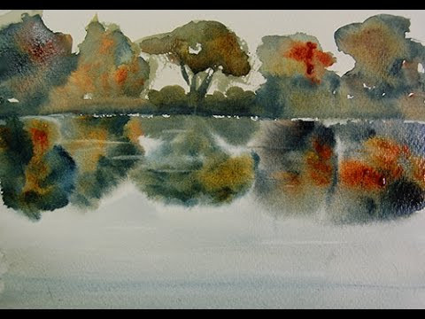 Watercolor Tips #10: How To Paint Reflections on Water ...