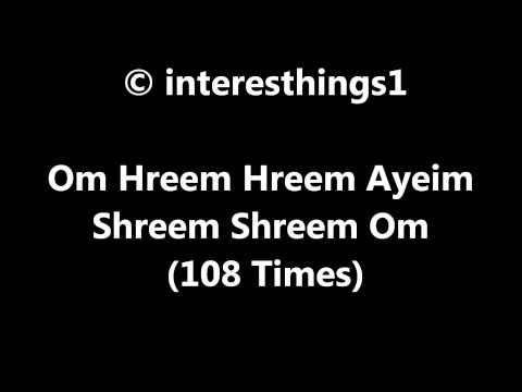 Gambling Mantra Om Hreem Hreem Ayeim Shreem Shreem Om 108 Times