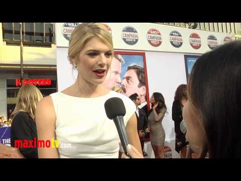 "Kate Lang Johnson Interview ""The Campaign"" Los Angeles Premiere Arrivals"
