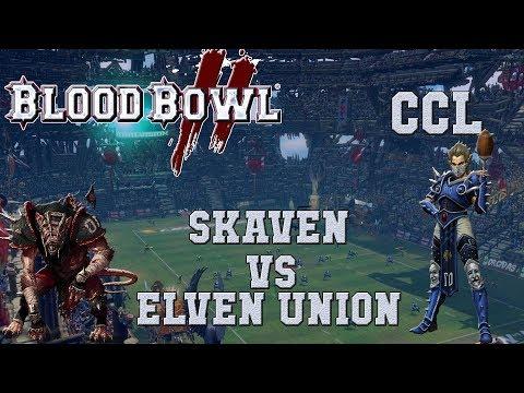 Blood Bowl 2 - Skaven (the Sage) vs Elven Union - CCL G1