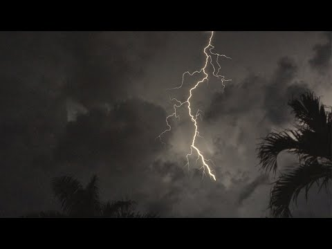 Tropical Thunderstorm & Rain Sounds For Sleeping, Relaxing ~ Rumbling Storm Equatorial Ambience