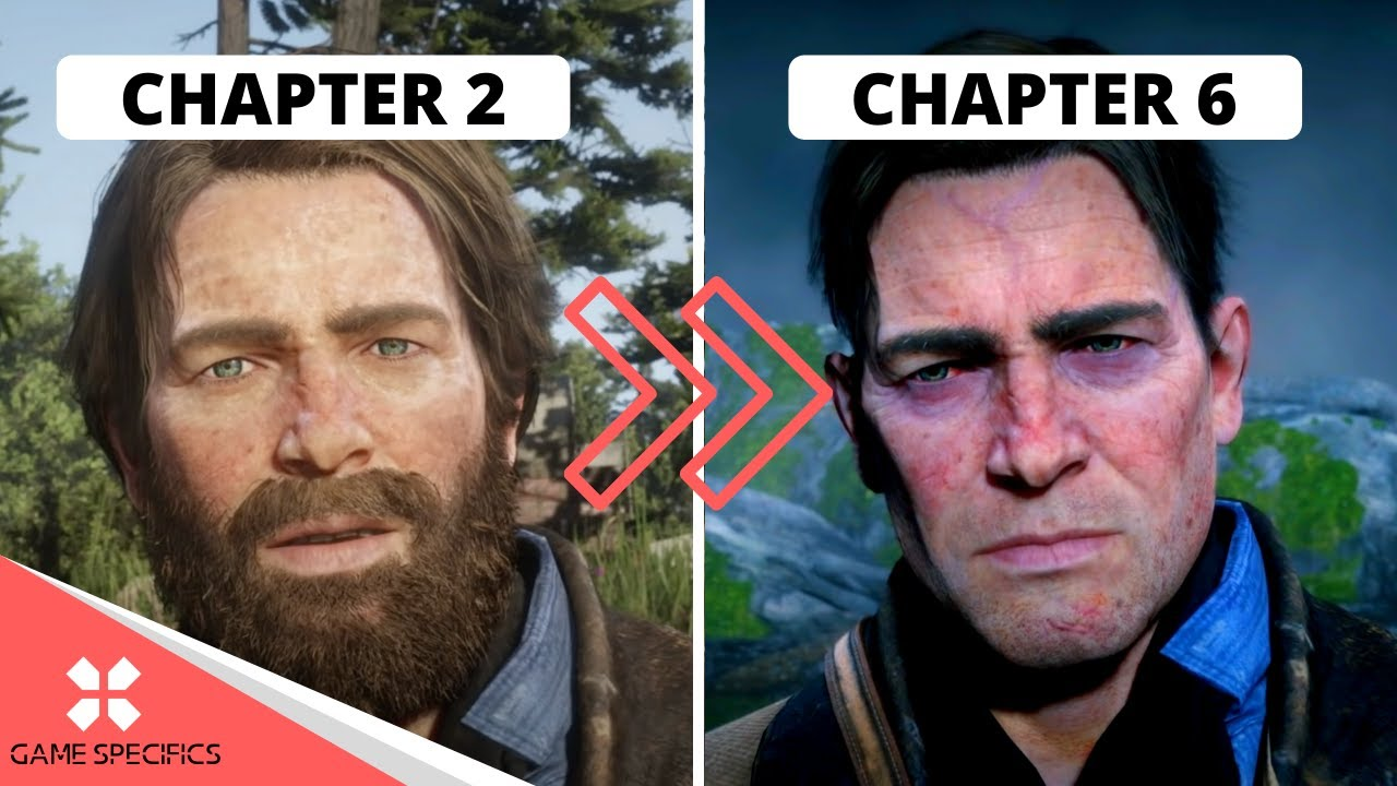 Download How Arthur Morgan's face changes throughout the story of Red Dead Redemption 2