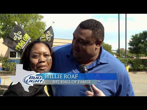 Bud Light Tailgating Party - Saints Fan