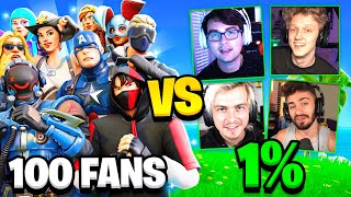 100 FANS vs One Percent Fortnite House!