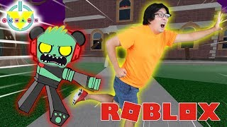 RYAN'S DADDY ESCAPING THE ZOMBIE ASYLUM OBBY IN ROBLOX ! Let's Play