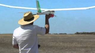 Milang Balsawood Glider Launch