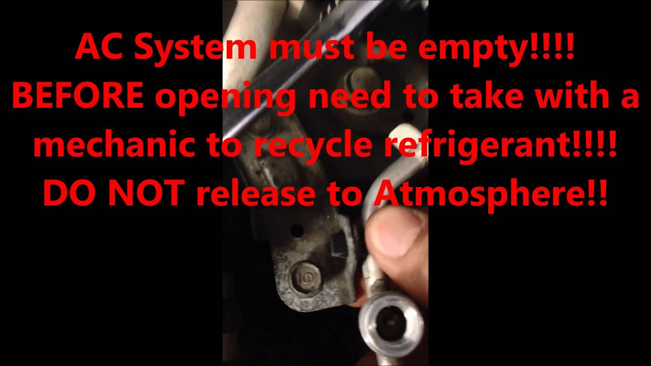 How To Replace Honda Civic Expansion Valve And Or Evaporator 2006 2007 2008 2009 2010 2011 Fuse Diagram