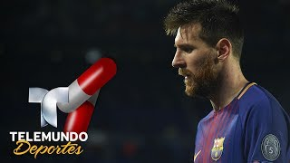 La misteriosa pastilla que Messi se tomó en la Champions | UEFA Champions League | Telemundo