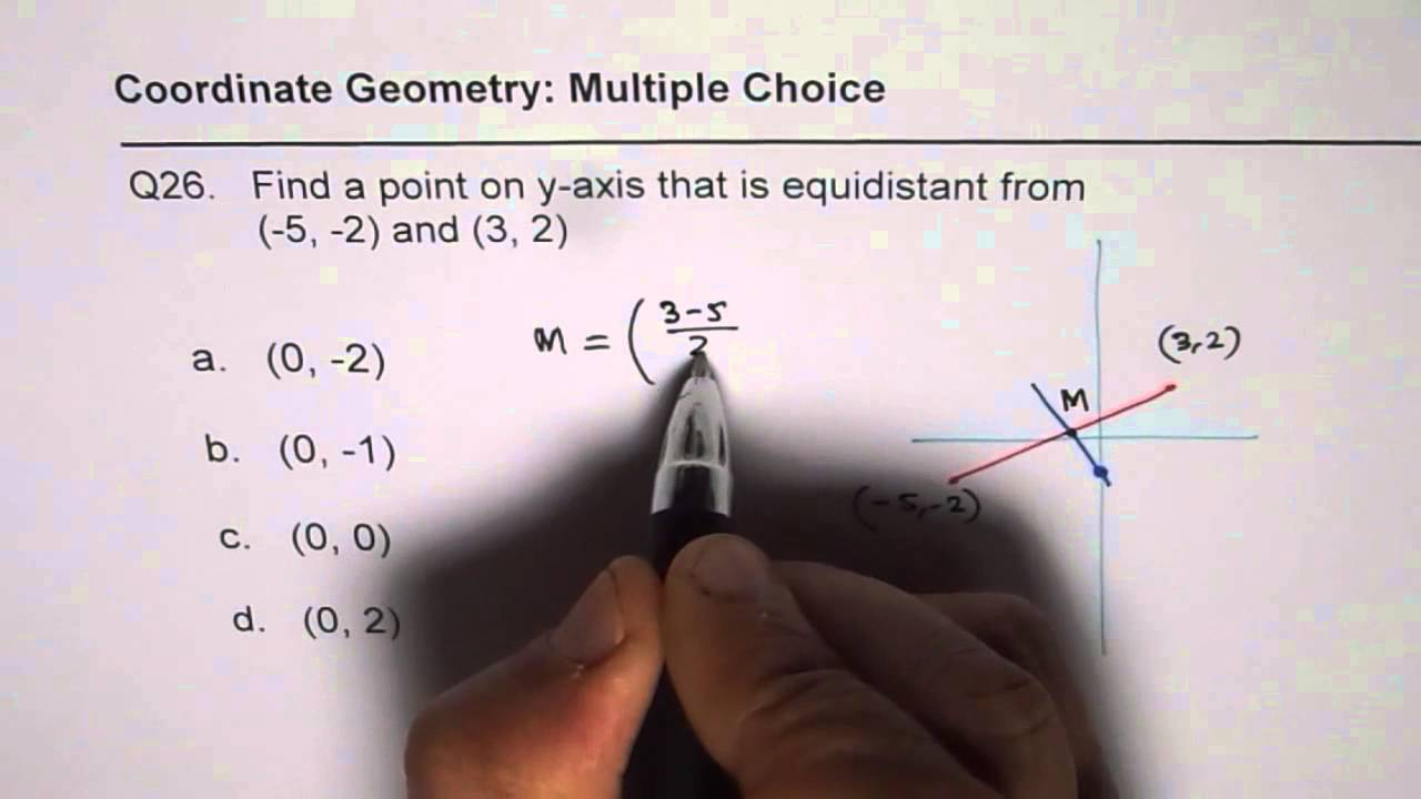 26 Find a point on Y Axis Equidistant From End Points of Segment IB ...