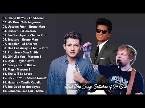 Bruno Mars, Charlie Puth, Ed Sheeran, Sam Smith Greatest Hits Songs 2019 Best Pop Songs Ever 2019