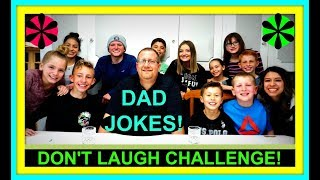 DAD JOKES! | TRY NOT TO LAUGH CHALLENGE!