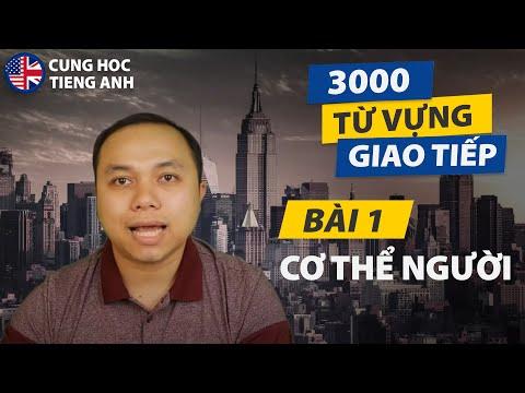 [3000 từ vựng giao tiếp] - Bài 1: Cơ thể người - Phù hợp cho người Việt ở Hải Ngoại