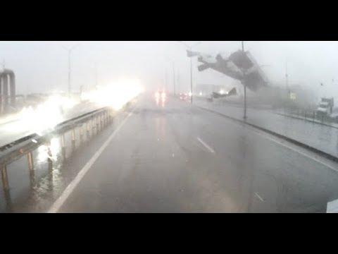 видео: Сорвало крышу на Федюнинского Мельникайте, Тюмень, 23.08.2018
