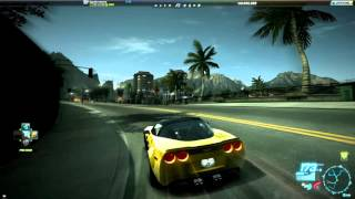 Chevrolet Corvette ZR1 - Ride close to Paradise Hotel. (Need For Speed OFF Line)