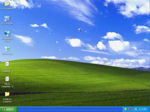 How To Zip And Unzip (Beginner Tutorial, Windows XP)