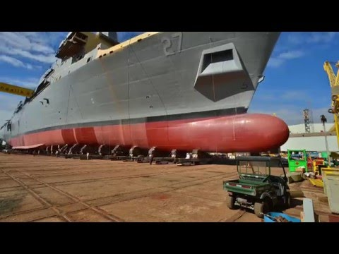 Ingalls Shipbuilding launches LPD 27