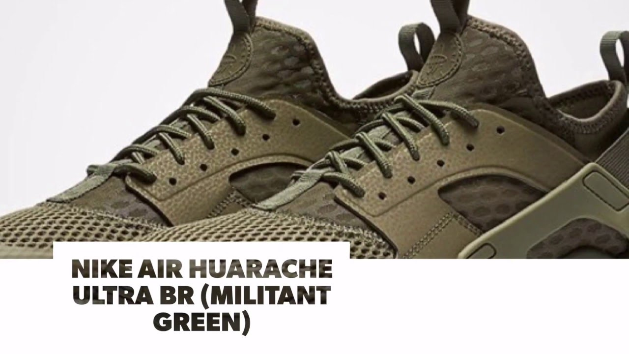 new arrival bd427 352fc NIKE AIR HUARACHE ULTRA BR (MILITANT GREEN)/ S SNEAKERS - YouTube