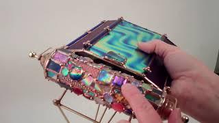 Serendipity Modern Glass Kaleidoscope by Sue Rioux #91