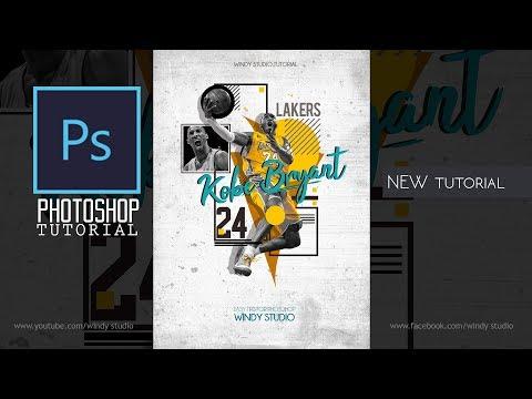 Adobe Photoshop Tutorial l Sports Poster Design l Lakers thumbnail