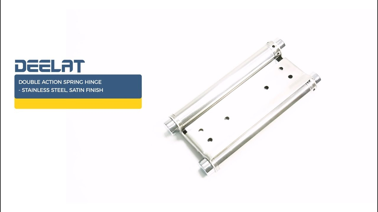 """Ultra Hardware 6/"""" Heavy Duty Brass Double Action Spring Hinges Set of 2"""