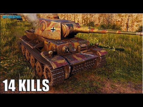 14 фрагов за бой на VK 36.01 (H) World Of Tanks немецкий тт 6 уровень