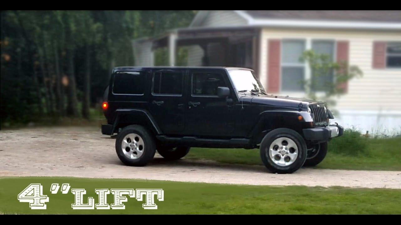 "Jeep Leveling Kit >> 4"" LIFT & STOCK WHEELS | JEEP WRANGLER UNLIMITED - YouTube"