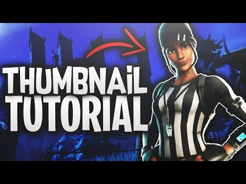 How To Make Clean Fortnite Thumbnails! (Photoshop)