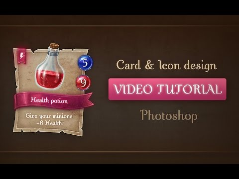 Tutorial Designing And Painting A Game Card Template Health Potion Icon No Voice