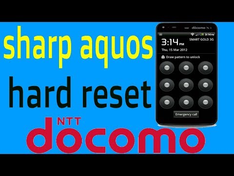 Sharp Aquos Docomo Pattern Unlock Any Security Code