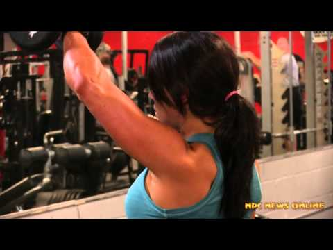 IFBB Figure Pro Kelly Lyons Shoulder Workout at the East Coast Mecca