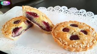 طارط بحشوة اللوز والكرز Cherry Bakewell Tarts