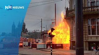 Grote Brand Bij Hotels Voor Station Amsterdam Centraal
