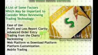 135: Choosing a Forex Broker, Part IV: Technology & Add-ons
