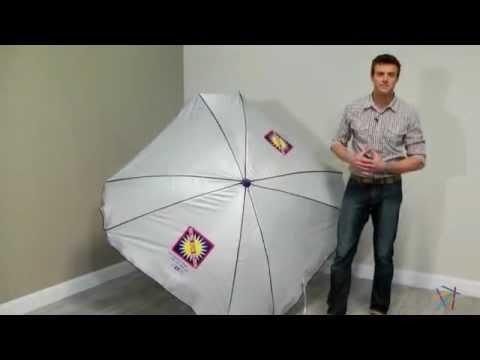 Rio Total Sun Block 7 Ft Beach Umbrella Product Review Video You