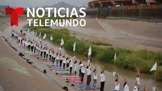 Practican yoga en la frontera para difundir paz y armonía | N…