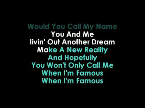 Nathan Sykes Famous karaoke (guide vocals) | GOLDEN KARAOKE